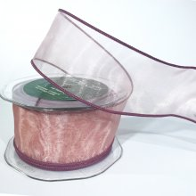 44mm Organza Ribbon Soft Pink - Wired Edge