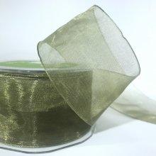 50mm Organza Ribbon Olive Green