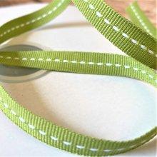 10mm Centre Stitch Ribbon leaf green 45m Bargain