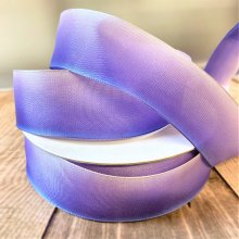 40mm Ombre ribbon Lilac / lavender - 50m