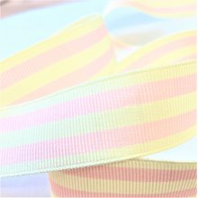 22mm pink stripe Grosgrain Ribbon 90m Bargain