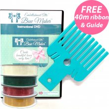 Bow Maker with 'A Guide to Tying Bows' booklet & 4 rolls of ribbon worth £10 FREE