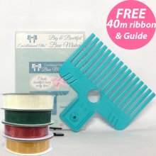 Big & Bowtiful Bow Maker with 'A Guide to Tying Bows' booklet & 4 rolls of ribbon worth £10 FREE