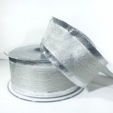 40mm Metallic Silver Ribbon