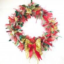 "Classic 12"" inch Christmas Ribbon Wreath Kit"