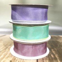 25mm Taffeta Ribbon Trio-Pack - Lilac, Soft Mint & Rose Pink