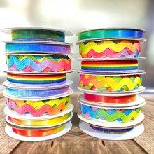 Fantastic Ribbons Nice n Narrow Rainbow Collection - 15 Rolls