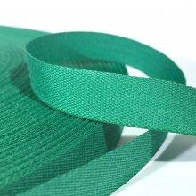 15mm Cotton Tape Ribbon Emerald Green