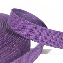 15mm Cotton Tape Ribbon Plum