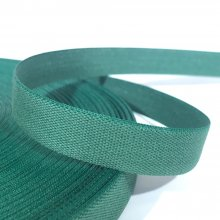 15mm Cotton Tape Ribbon Sea Green