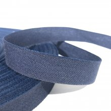 15mm Cotton Tape Ribbon Navy