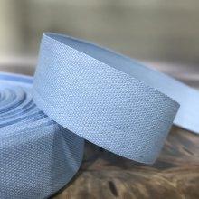 25mm Cotton Tape Ribbon Light Blue