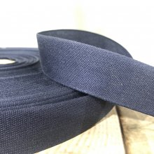 25mm Cotton Tape Ribbon Navy