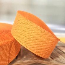 25mm Cotton Tape Ribbon Orange