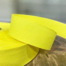 25mm Cotton Tape Ribbon Yellow