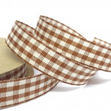 15mm Cottage Check Fudge Ribbon