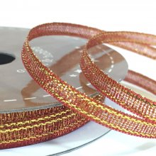 3mm Golden Accents Ribbon Copper Red