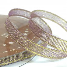 6mm Golden Accents Ribbon Light Lilac