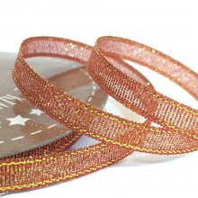 6mm Golden Accents Ribbon Copper Red