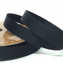10mm Grosgrain Ribbon Black