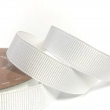 15mm Grosgrain Ribbon Bridal White