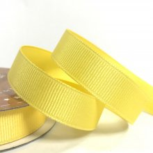 15mm Grosgrain Ribbon Lemon Peel