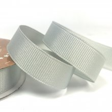 15mm Grosgrain Ribbon Slate Grey