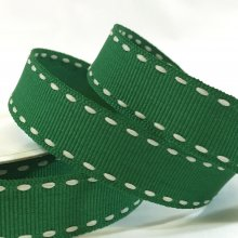 15mm Side Stitch Ribbon Holiday Green