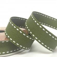 15mm Side Stitch Ribbon Moss