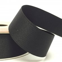 25mm Grosgrain Ribbon Black