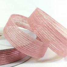 15mm Hessian Ribbon Pink