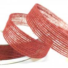 15mm Hessian Ribbon Red