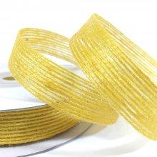 15mm Hessian Ribbon Gold Yellow