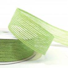25mm Hessian Ribbon Green