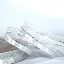 10mm Duo Shimmer Ribbon Bridal White