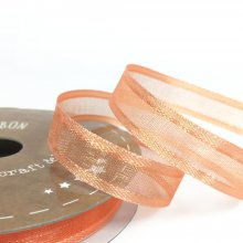 10mm Satin Edge Organza Ribbon Apricot