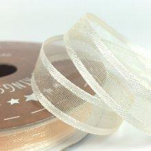 10mm Satin Edge Organza Ribbon Cream