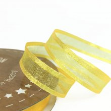 10mm Satin Edge Organza Ribbon Yellow