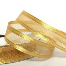 10mm Satin Edge Organza Ribbon Old Gold
