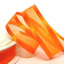 10mm Satin Edge Organza Ribbon Pumpkin