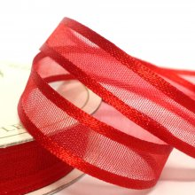 10mm Satin Edge Organza Ribbon Red