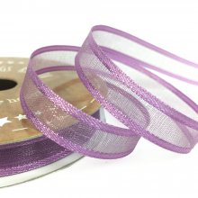 10mm Satin Edge Organza Ribbon Amethyst