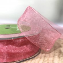 25mm Organza Ribbon Soft Rose Pink - 45m