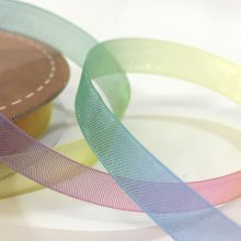 10mm Organza Rainbow Ribbon