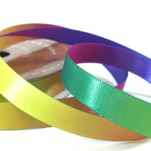 10mm Satin Rainbow Ribbon