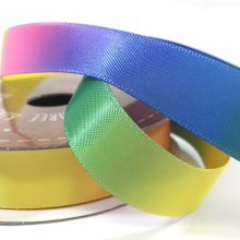 15mm Satin Rainbow Ribbon