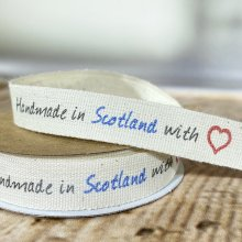 15mm Handmade in Scotland with Love Ribbon