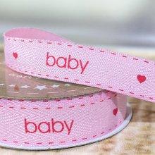 15mm Baby Ribbon Pink