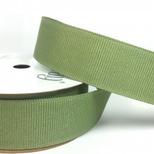 22mm Grosgrain Ribbon Spring Moss