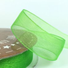 15mm Tropic Organza Ribbon Lime Cordial